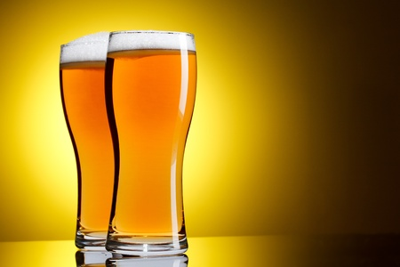 Two glasses of beer Stock Photo - 9494017