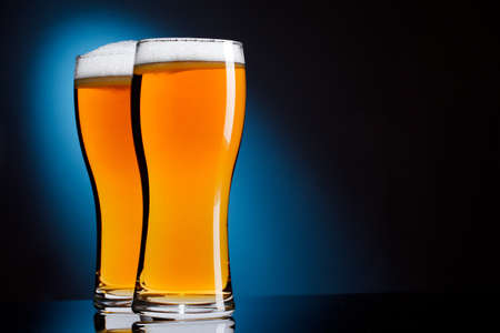Two glasses of beer photo