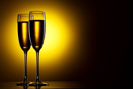 Pair of champagne flutes Stock Photo - 9598040