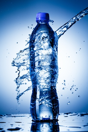 kunststoff: Wasserflasche Lizenzfreie Bilder