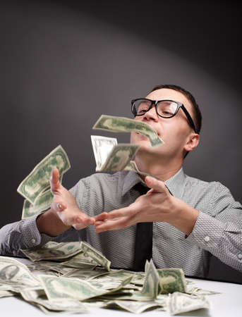 Happy man with money Stock Photo - 9758467