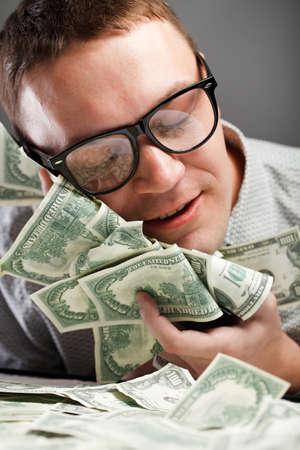 Happy man with money Stock Photo - 9758470