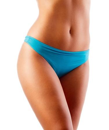 slim tummy: Woman body