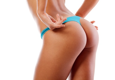 sexy young woman back. Isolated over white Stock Photo - 10223071