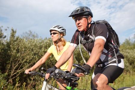 Bicyclists Standard-Bild