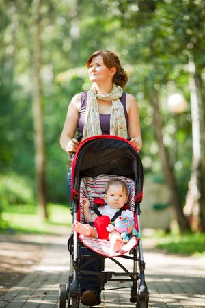 Mother with baby at outdoor Stock Photo - 10411648