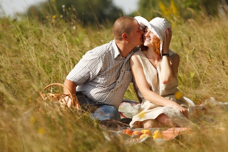 Young couple at outdoor Stock Photo - 10411220
