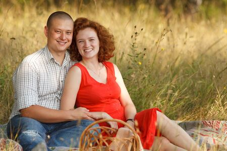 Young couple at outdoor photo