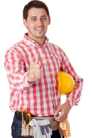 Worker. Isolated over white Stock Photo - 10586124