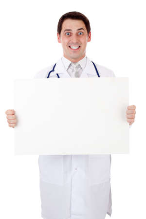 Doctor with placard Stock Photo - 10585879