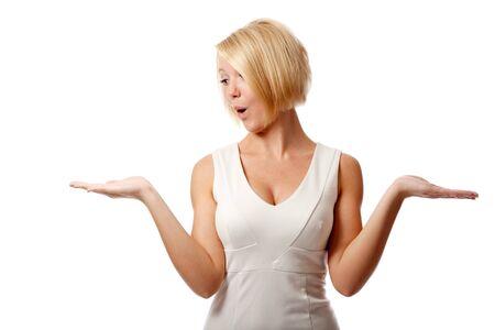Woman chosing concept. Standard-Bild