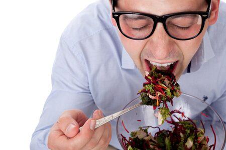 Man and salad