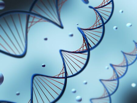 genom: Illustration of a DNA with shallow DOF