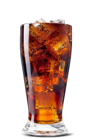soft drink: Cola. Isolated over white