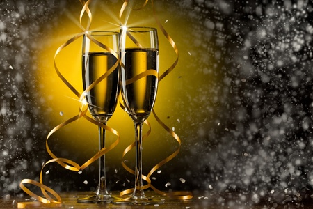 Pair glass of champagne Stock Photo
