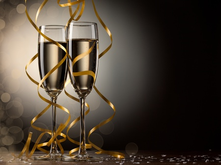 Pair glass of champagne photo
