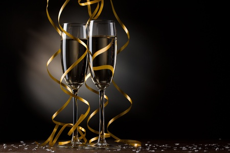 champagne glass: Pair glass of champagne Stock Photo