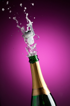 Openning champagne bottle photo