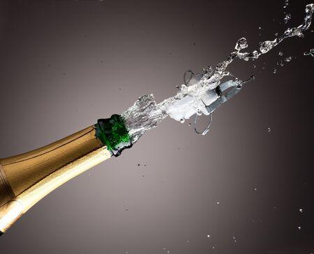 celebration champagne: Openning champagne bottle Stock Photo