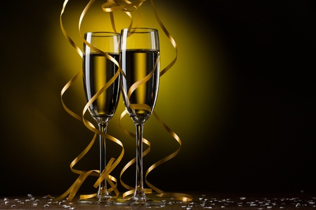Pair glass of champagne Stock Photo - 11150128