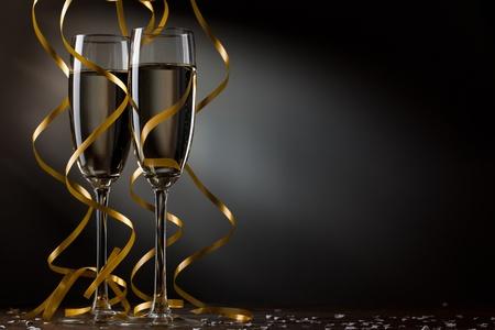 Paire de verre de champagne Banque d'images