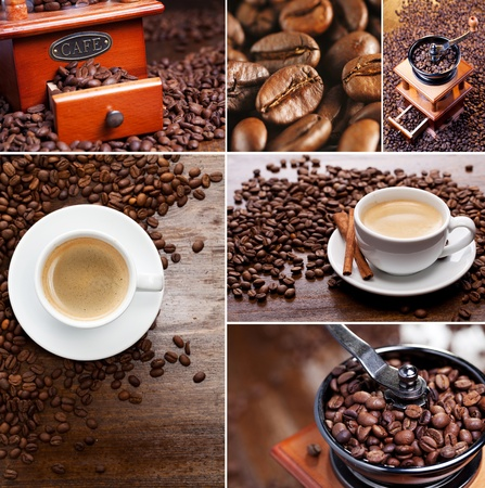 Collage of coffee photo