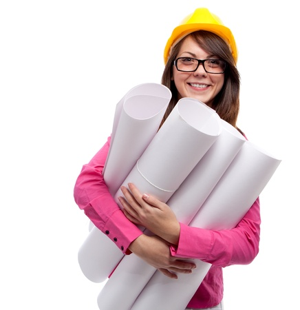 Businesswoman. Isolated over white. Stock Photo - 12526439