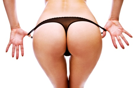 Woman take off her panties Stock Photo - 12527477