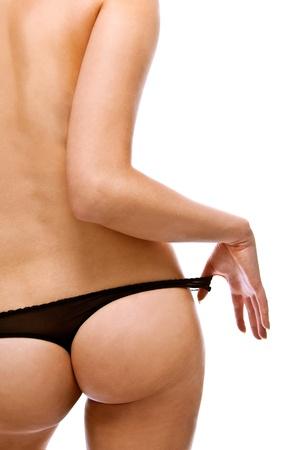 Woman take off her panties Stock Photo - 12528170