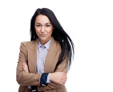 Young businesswoman. Isolated over white. Stock Photo - 12526953