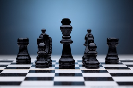 chess king: Black chess pieces