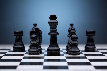ajedrez: Las piezas negras del ajedrez
