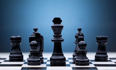superiority: Black chess pieces