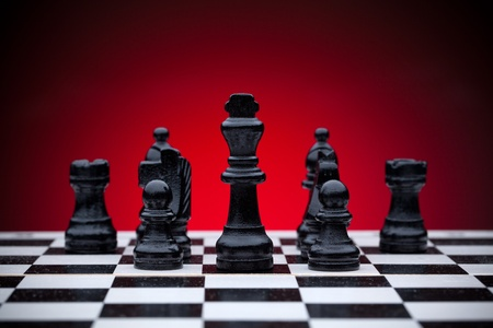 Black chess pieces Stock Photo - 12551828