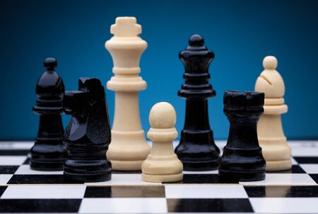 superiority: Chess pieces Stock Photo