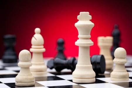 chess men: Chess pieces Stock Photo