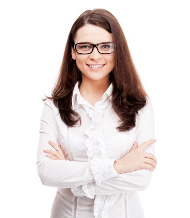 Woman with eyeglasses photo