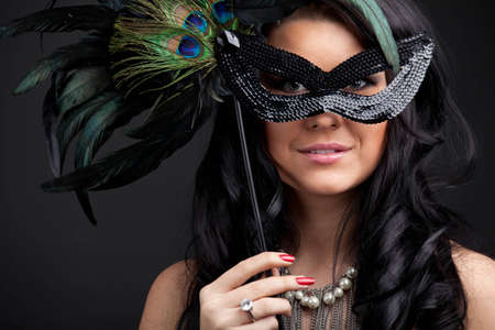 Woman with mask Stock Photo - 12835206