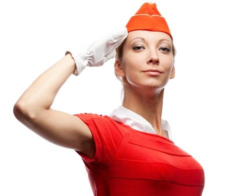 hotesse de l air: Jolie hôtesse de l'air