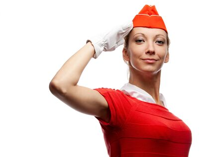 air hostess: Jolie hôtesse de l'air