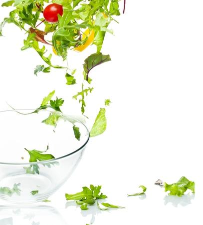 Flying salad 版權商用圖片