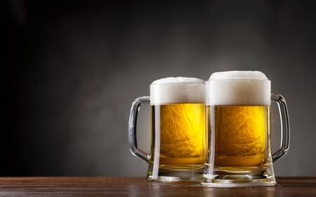 pair glasses of beer Stock Photo - 14216604