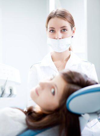 woman dentist working photo