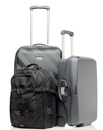 holdall: Suitcase isolated on a white background