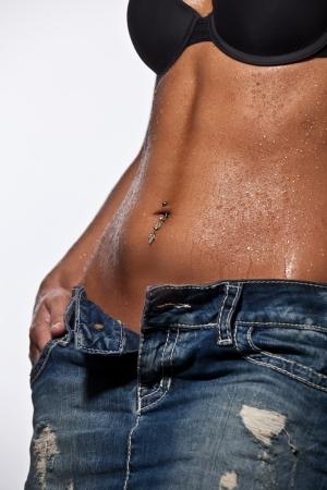 slim woman body  photo