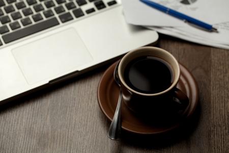 modern office desktop Banque d'images