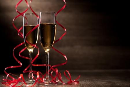 Pair glass of champagne 版權商用圖片