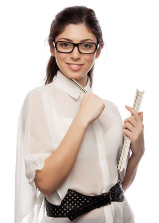business women with pen Stock Photo - 16660900
