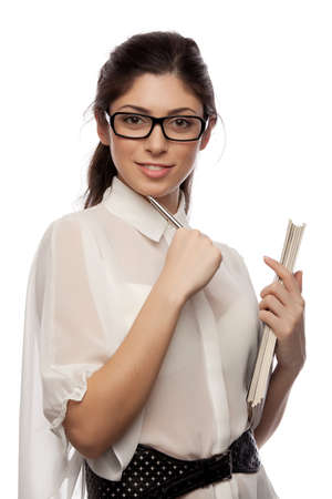 business women with pen Stock Photo - 16660945