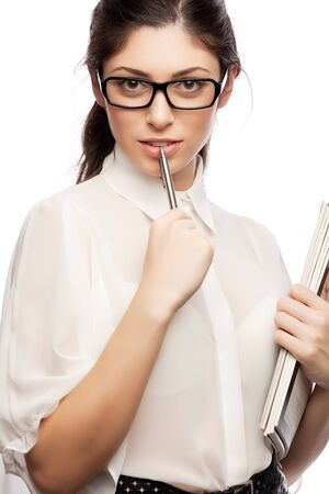 business women with pen  Stock Photo - 16661008